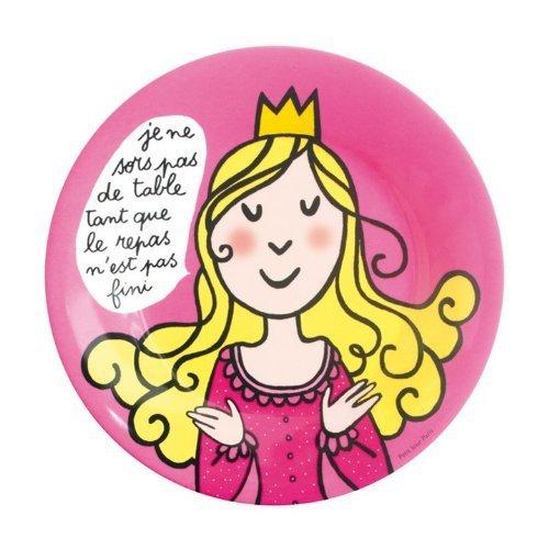 Assiette Princesse enfant Je ne sors pas de table - Petit Jour Paris