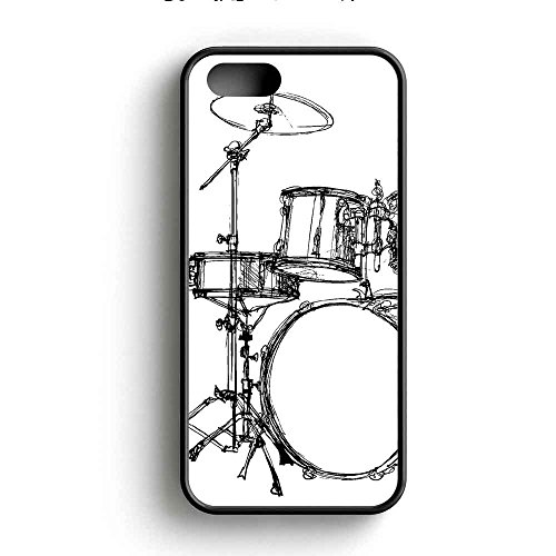 drum-set-art-sketch-couverture-coque-iphone-5-5s-cas-rubber-frame-noir-fit-pour-coque-iphone-5-5s-q1