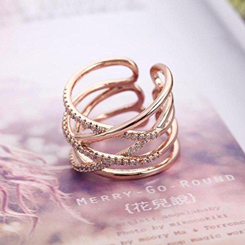 GYJUN Ringe Modisch Alltag / Normal Schmuck Sterling Silber Damen Bandringe 1 Stück,Eine Größe Rosé / Silber , rose pink (Adizero Rose 1)