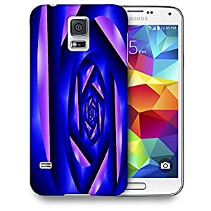 Snoogg Abstract Blue Cylone Pattern Printed Protective Phone Back Case Cover For Samsung S5 / S IIIII