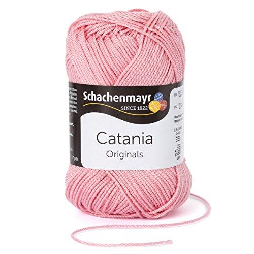 Schachenmayr Catania 9801210-00408 altrosa Handstrickgarn, Häkelgarn, Baumwolle Grau Wolle