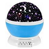 Sternenhimmel Projektor, Umiwe 3 Licht Modus Bunt 360 Grad Drehung LED Nachtlicht Lampe Star Projektor Nacht Lampe für Kinder Erwachsene Schlafzimmer Baby Kinderzimmer Weihnachtsgeschenk (Blau)