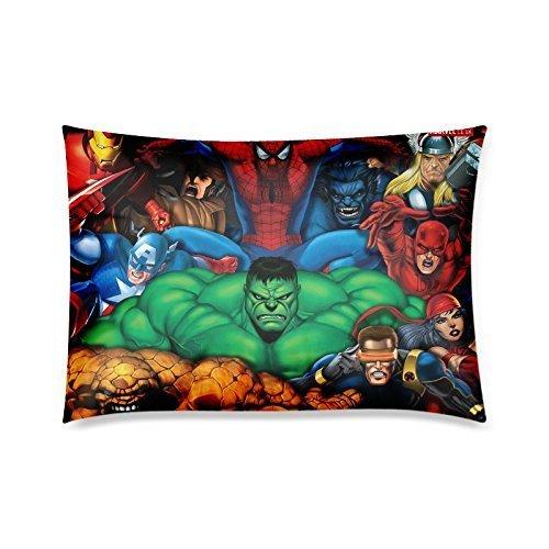 Home Decor Custom Marvel alle Super Heroes Reißverschluss Kissen Fall Twin Seiten 50,8x 76,2cm von Kissen Fällen (Heroes-twin Marvel)