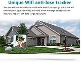 GARY&GHOST WIFI GPS Tracker für Hunde und Katzen, IP66 Wasserdicht mit LED Licht (Silber) -