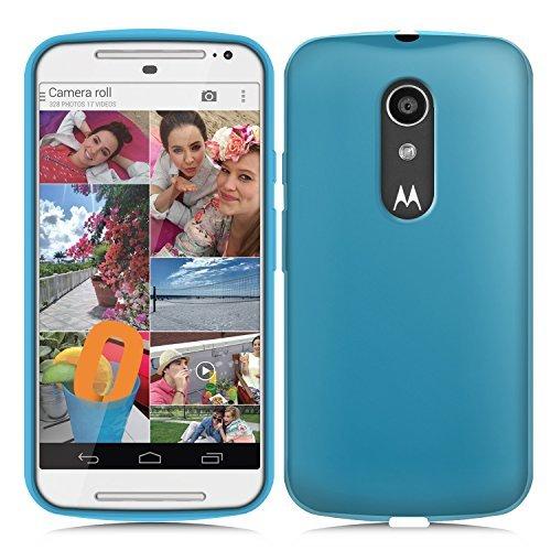 Orzly® - FlexiCase for New 2014 MOTO-G (5 Inch / 2nd Gen) - Protective Flexible Soft Gel Case - Silicon Phone Cover / HandyTasche / Schutzhülle / Gel Hülle Schütz in BLAU Farbe - Entwurf exklusiv für MOTOROLA MOTO G 2 SmartPhone / Mobille Handy (Neu 5-Zoll Version der MotoG - Generation 2 Modell) (Moto Case Orzly G)