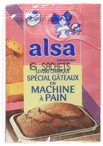 Alsa Levure Chimique Spécial Gâteaux Machine à Pain 6 Sachets 48g - Lot de 13