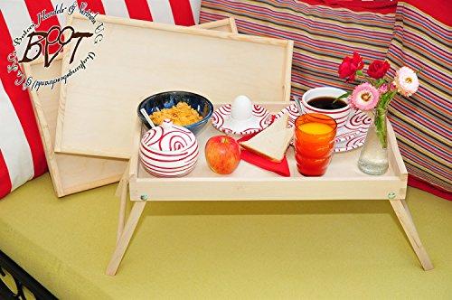Großes Picknickset, Bretter 3 Stk. Holztablett, Buche - SPÜLMASCHINENFEST '*' - massiver und hochwertiger, klappbarer Beistelltisch, natur, Knietisch mit zwei Tragegriffen, Maße viereckig, 35 cm x 50 cm x 20 cm, nutzbar als Frühstückstablett oder Serviertablett, Picknick Grill-Set