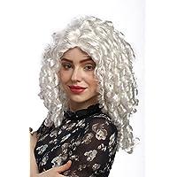 WIG ME UP ® - 91056-ZA62 Parrucca Donna Carnevale Cosplay Lolita Gotica Barocco Riga in Mezzo Bianco Chiaro Ricci a Cavatappi