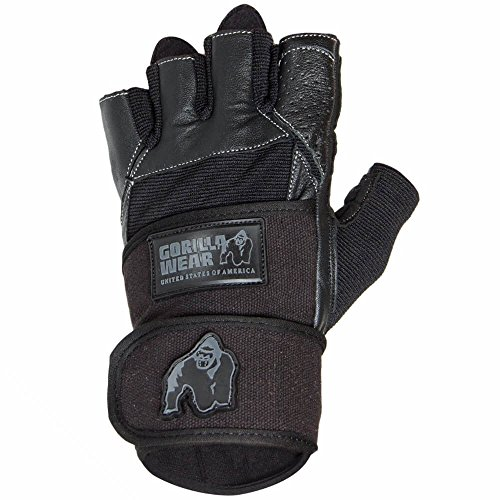 Gorilla Wear Dallas Wrist Wrap Gloves - schwarz Bodybuilding und Fitness Accessoires für Herren, XL