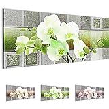 Bilder 110 x 40 cm - Orchidee Bild - Vlies Leinwand - Kunstdrucke -Wandbild - XXL Format - mehrere Farben und Größen im Shop - Fertig Aufgespannt !!! 100% MADE IN GERMANY !!! - Blumen - Abstrakt 204611b