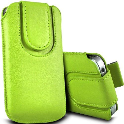 c63-huawei-ascend-y300-premium-magnetica-cuoio-pull-tab-custodia-flip-verde
