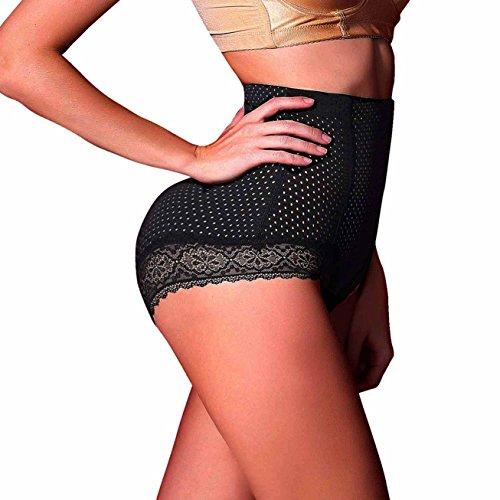 Damen Butt Lifter Panty Bauch-weg-Effekt Seamless Miederhose Enhancer Control Miederslip Unterwäsche Shapewear (S(3-5 Days Delivery), Black(3-5 Days Delivery)) (Bauch-tanzen-kleidung)