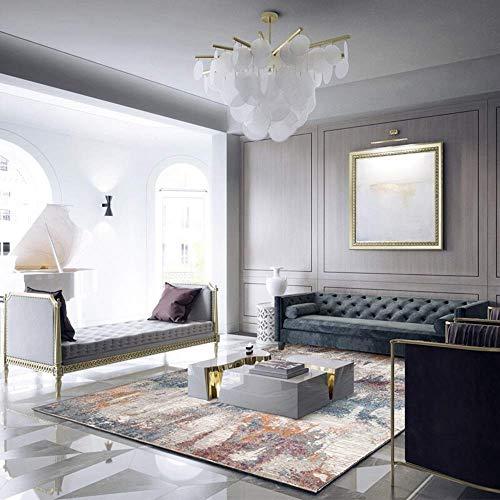 Rechteck Classic Home Designer Teppich Zeitgenössisches Wohnzimmer für Wohnzimmer Sofa Schlafzimmer Moderne Grenze Multifunktions-Teppich Unschlagbarer Deal (160X230cm) -
