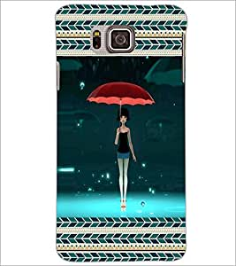 PrintDhaba Fantasy Girl D-5714 Back Case Cover for SAMSUNG GALAXY ALPHA (Multi-Coloured)