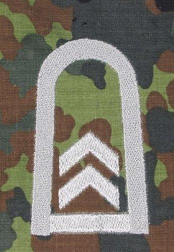 1 Paar Bundeswehr Rangabzeichen Flecktarn/Silber Rangschlaufe Rangschlaufen Abzeichen Schlaufe verschiedene Dienstgrade (Oberfeldwebel)