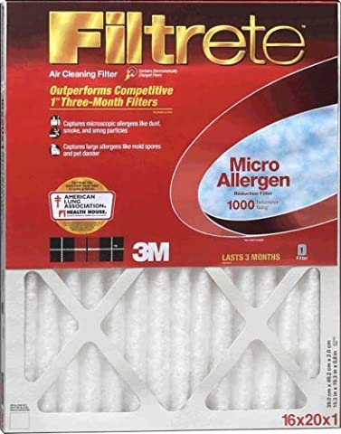15x20x1, Filtrete Micro Allergen Air Filter, MERV 11, by 3m by 3M