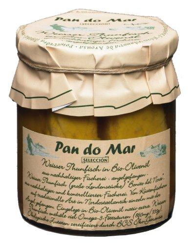 Pan do Mar Weißer Thunfisch in Bio Olivenöl, 3er Pack (3 x 220 g)