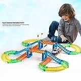 KEPTEI Kinder Spielzeug Autorennbahn Set Fahrzeug Track Set für Kinder ab 3 Jahren
