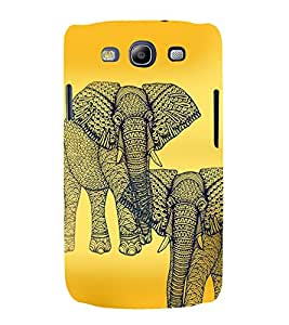PrintVisa Animal Elephant Art 3D Hard Polycarbonate Designer Back Case Cover for Samsung Galaxy S3 Neo