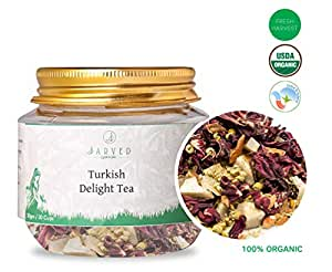 Jarved Turkish Delight Tea: Hibiscus, Chamomile, Cinnamon and Cocnout.Makes 15 Cups. Special Introductory Price at Rs 199