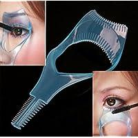 Foopp - Herramienta 3 en 1 aplicador de máscara Peine plástico para maquillar y rizar pestañas realza la belleza (envío al azar)