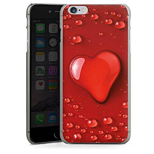 Apple iPhone X Silikon Hülle Case Schutzhülle Liebe Wasser Tropfen Herz Muster Hard Case anthrazit-klar