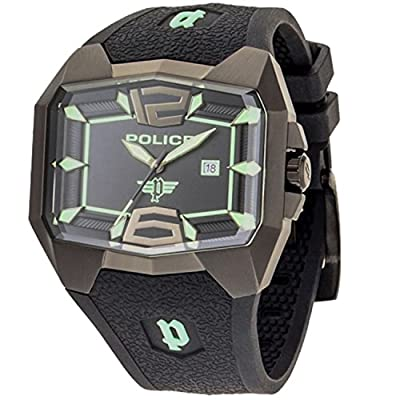 Police GS-PL-30THANN-JW - Reloj analógico de cuarzo para hombre con correa de silicona, color negro de Police