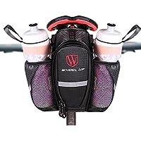 LJ deporte carretera bicicleta de montaña bicicleta sillín Bolsa con bolsillo para doble botella de agua