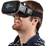 Gafas realidad virtual 3D VR compatibles con iPhone y Android de 4'' a 6'' - Gafas VR que ofrecen alta calidad de imagen y adaptables al usuario - Gafas 360º de diseño ergonómico para videos y juegos