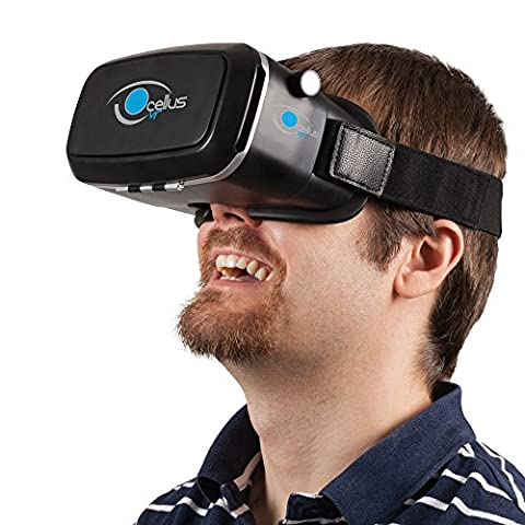 3D VR headset OCELLUSvr, kompatibel mit iPhone und Android von 4'' bis 6'', 3D VR (accessori del video gioco)