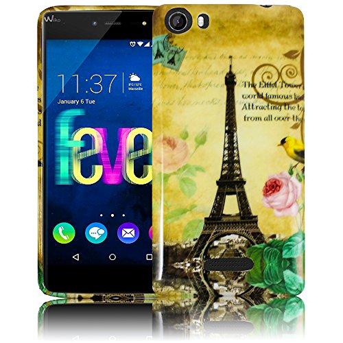 Wiko Fever 4G LA TOUR PARIS EIFFELTURM Silikon Schutz-Hülle weiche Tasche Cover Case Bumper Etui Flip smartphone handy backcover thematys®