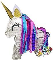 Pignatta Unicorno corpo intero (piñata, pentolaccia). Gioco della pignatta per feste di compleanno a tema. Mad