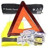 DT-Parts 3 in 1 Kombitasche Erste-Hilfe Tasche mit Warndreieck und Warnweste