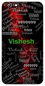 Vishesh (Special) Name & Sign Printed All over customize & Personalized!! Protective back cover for your Smart Phone : One Plus Three ( 1+3 )