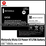Voopick® Battery for Motorola Moto E3 Power XT1706 [Model: GK50] 3500mAh Capacity.