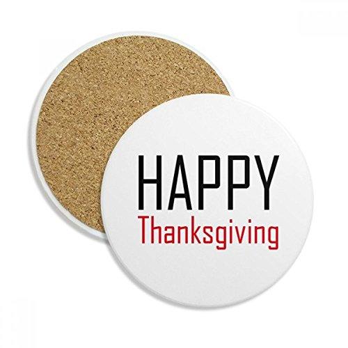 DIYthinker Feiern Sie Thanksgiving Day Festival-Feiertag Stein Getränk Keramik-Untersetzer für Becher-Schalen-Geschenk 2pcs Mehrfarbig