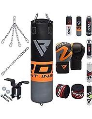 RDX 8PC MMA 4FT 5FT Sacos De Boxeo Relleno Saco Pesado Pared Kick Boxing Guantes Muay Thai Gancho del Techo