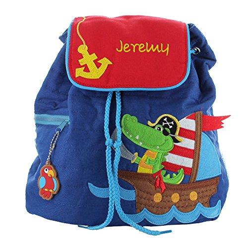 *Stephen Joseph – Sac à dos molletonné Croco-Pirate personnalisé au prénom de l'enfant Acheter en ligne