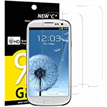 2 Pack Verre Trempé Samsung Galaxy S3, NEWC® Film Protection en Verre trempé écran Protecteur vitre - ANTI RAYURES - SANS BULLES D'AIR -Ultra Résistant (0,33mm HD Ultra transparent) Dureté 9H Glass Screen Protector pour Samsung Galaxy S3