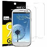 Panzerglas Samsung Galaxy S3, [2 Stück] NEWC® Tempered Glass 9H Härte, Frei von Kratzern Fingabdrücken und Öl, HD Displayschutzfolie, 0.33mm Ultra-klar, panzerglas schutzfolie für Samsung Galaxy S3