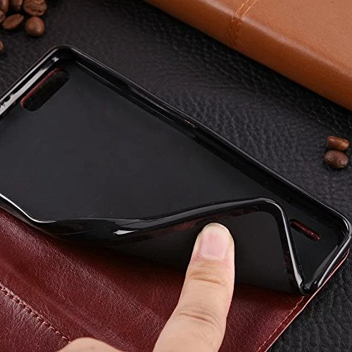 Wkae Case Cover Huawei 6x Fall feste Folio magnetische Design Flip Brieftasche Stil Fall Farbmuster PU-Leder-Abdeckung Standup-Abdeckungsfall für Huawei 6x ( Color : Brown , Size : Huawei 6x ) Red