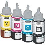 Compatible Epson T664botellas de tinta negro, cian, Magenta y amarillo–Para uso con Epson EcoTank ET-2500impresoras–por Carooble