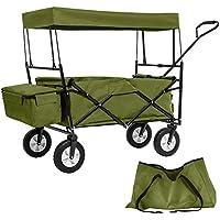 TecTake Faltbarer Bollerwagen mit Dach und extra Tragetasche - diverse Farben -