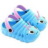 DADAZE Unisex Kinder Clogs Sommer Strand Badeschuhe Pantoffeln Pantoletten Atmungsaktiv Hausschuhe Latschen Rutschfeste Slippers mit Cartoon Raupe für Jungen Mädchen