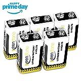 5 Stück 9V Block Batterie 1200mAh, Keenstone Typ 9V Alkaline Batterien 6LR61 Einwegbatterie Ideal für Rauchmelder, Alarmanlagen, Sicherheitsanlagen, Drahtlose Mikrofone, Multimeter, Fernbedienung Spielzeug