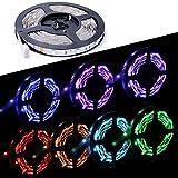 Anten LED Strip RGB 5m Wasserdicht IP20 selbstklebend LED Streifen Bunt, 300 SMD 5050 Leds Lichtband Leiste Band Beleuchtung Lichtschläuche für den außenbereich
