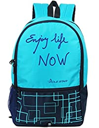 POLE STAR HERO 32 Lt Turquoise/Navy Lite weight Casual Backpack/ Daypack