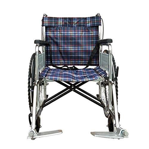SPONSOKT Leichter Faltender Rollstuhl, Der Medizinisch Fährt, Rollstuhl-Überzug-Weicher Rollstuhl, Älterer Rollstuhl, Untauglicher Portable