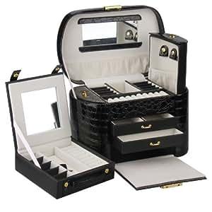 Rowling Large Jewellery Box Beads Storage Display Case jewellery Organizer ZG149BK