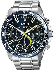 Reloj de pulsera Lorus Watches cuarzo–Acero inoxidable–48x 52mm–10ATM–Stop–Reloj–Reloj cronógrafo Taquímetro rt315fx9